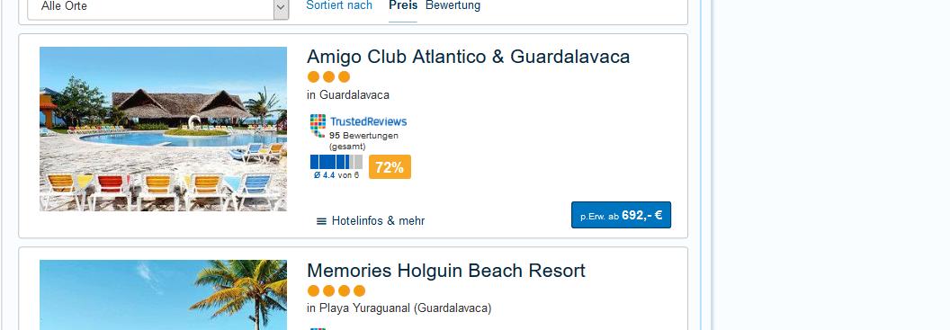 Eine Woche Kuba All Inclusive günstig ab 692,00€ = Last Minute!
