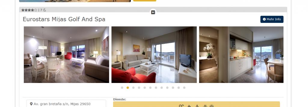 Screenshot Hotelzimmer Golfurlaub in Spanien - Andalusien an der Costa Del Sol günstig ab 428,00€