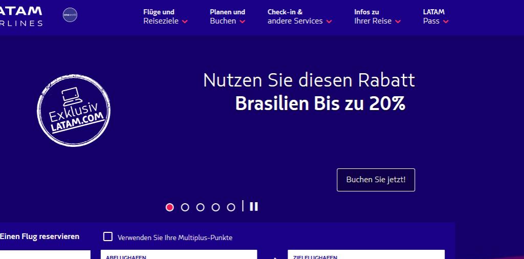 LATAM Airlines Deutschland Offizielle Website LAN und TAM sind jetzt LATAM