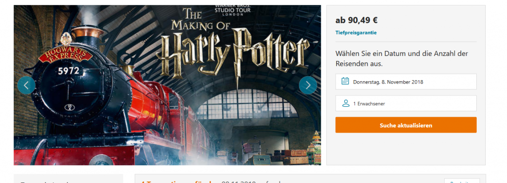 Muggeltour The Making of Harry Potter in London Hotel - ab 91,00€