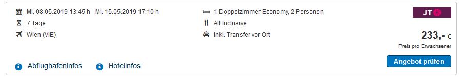 Screenshot Deal All Inclusive Urlaub Bulgarein - Goldstrand günstiger ab 233,00€