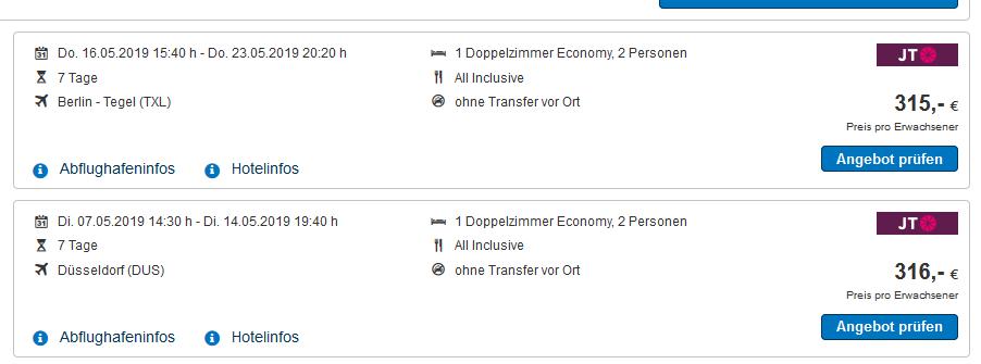 Screenshot Deal All Inclusive Urlaub Rhodos genießen in vollen Zügen ab 315,00€