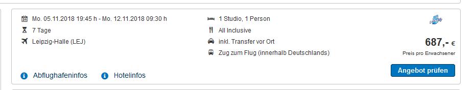 Screenshot Deal Dubai Solo Urlaub All Inclusive eine Woche ab 687,00€