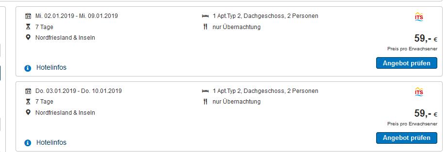 Screenshot Deal Ferienwohnung in Pellworm ab 8,50 die Nacht - Nordfriesische Insel Ferienwohnung