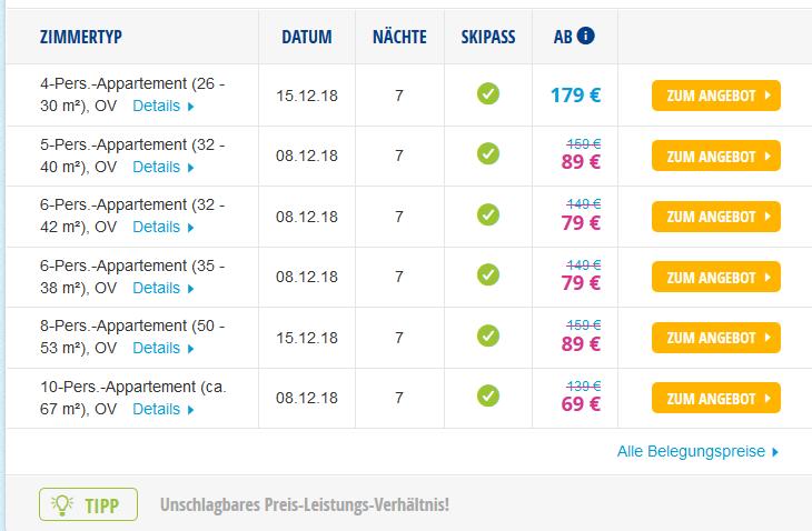 Screenshot Deal Günstiger Skiurlaub in Frankreich - Chamrousse 7 Tage ab 149,00€