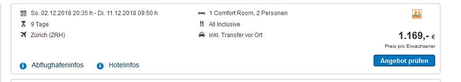 Screenshot Deal Mauritius All Inclusive Urlaub günstig ab 1169,00€ - 9 Tage