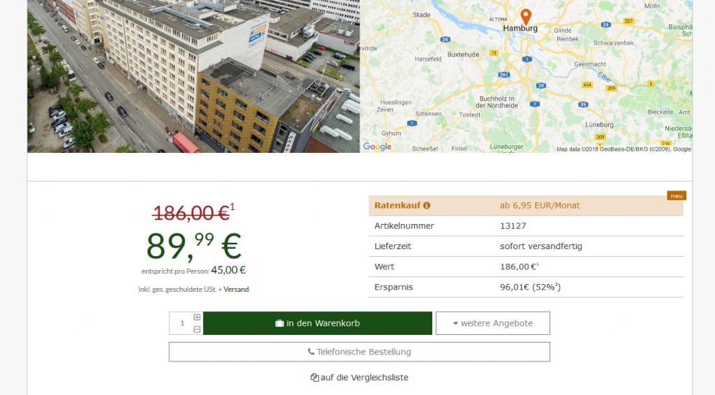 Städtereise nach Hamburg ab 22,49€ die Nacht - Städte Reise günstig