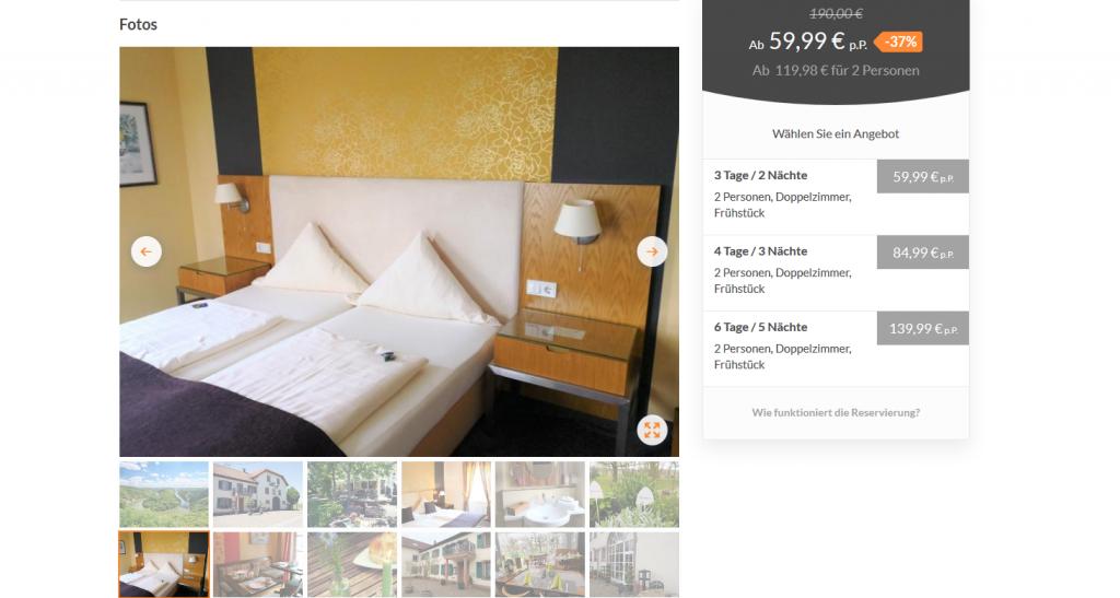 Screenshot Deal Urlaub im Saarland ab 59,99€ pro Person - Seelenfrieden im eigenen Land