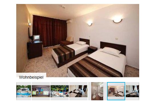 Screenshot Hotel All Inclusive Urlaub Bulgarein - Goldstrand günstiger ab 233,00€