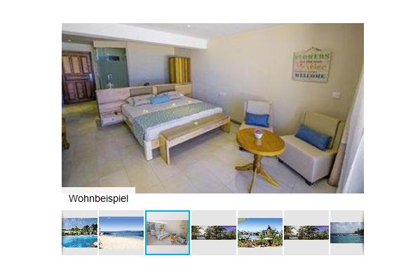 Screenshot Hotel Zimmer Beispiel Mauritius All Inclusive Urlaub günstig ab 1169,00€ - 9 Tage