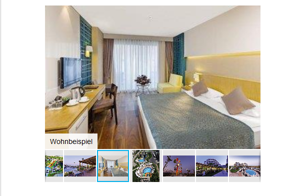 Screenshot Hotelzimmer Türkei eine Woche All Inklusive - günstig nach Antalya Belek ab 206,00€