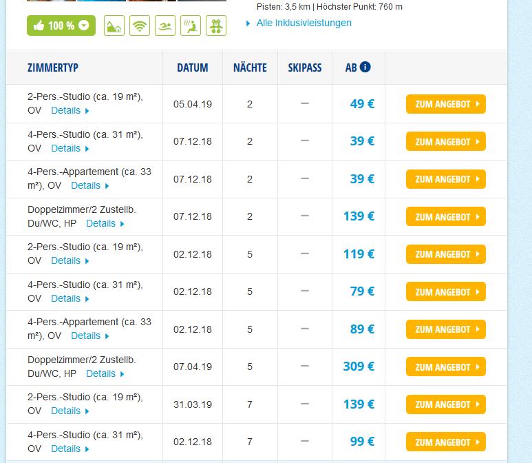 Screenshotdeal Günstig Winterurlaub in Schöneck ab 39,00€ - Skiurlaub günstig buchen