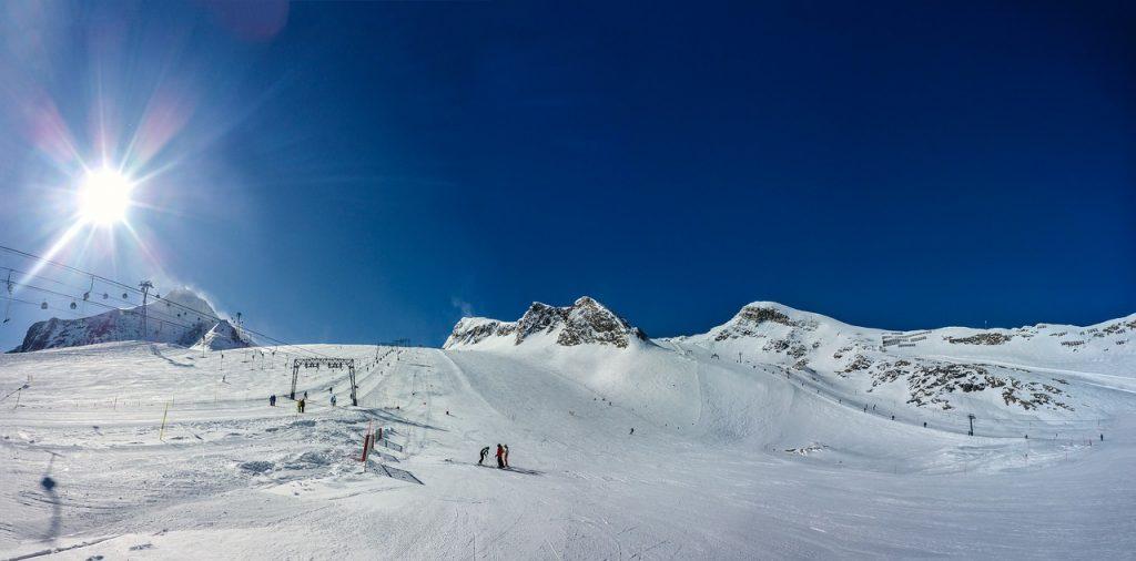 Skifahren im Salzburger