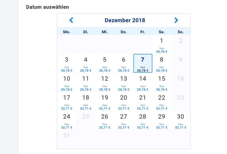 Screenshot Beispiel Datum The Wicked in London im Apollo Victoria Theatre - Flug, Hotel, Ticket ab 172,78€