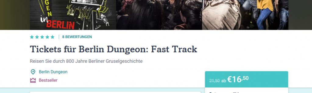 Screenshot Berlin Dungeon günstig ab 16,50€ anstatt 21,50€
