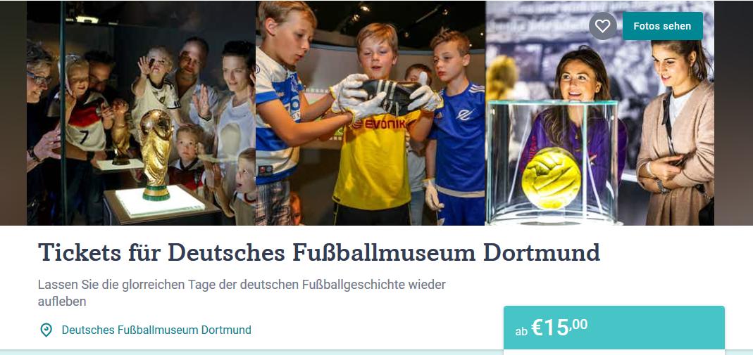 creenshot Deal - Tickets für Deutsches Fußballmuseum