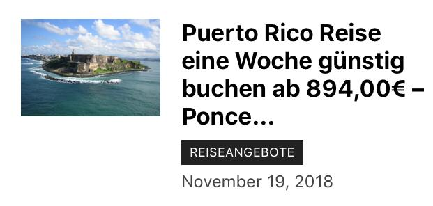 894,00€ für das Geld kommen Sie schon eine Woche nach Puerto Rico