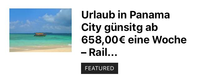 Ab 658,00€ eine Woche Panama City