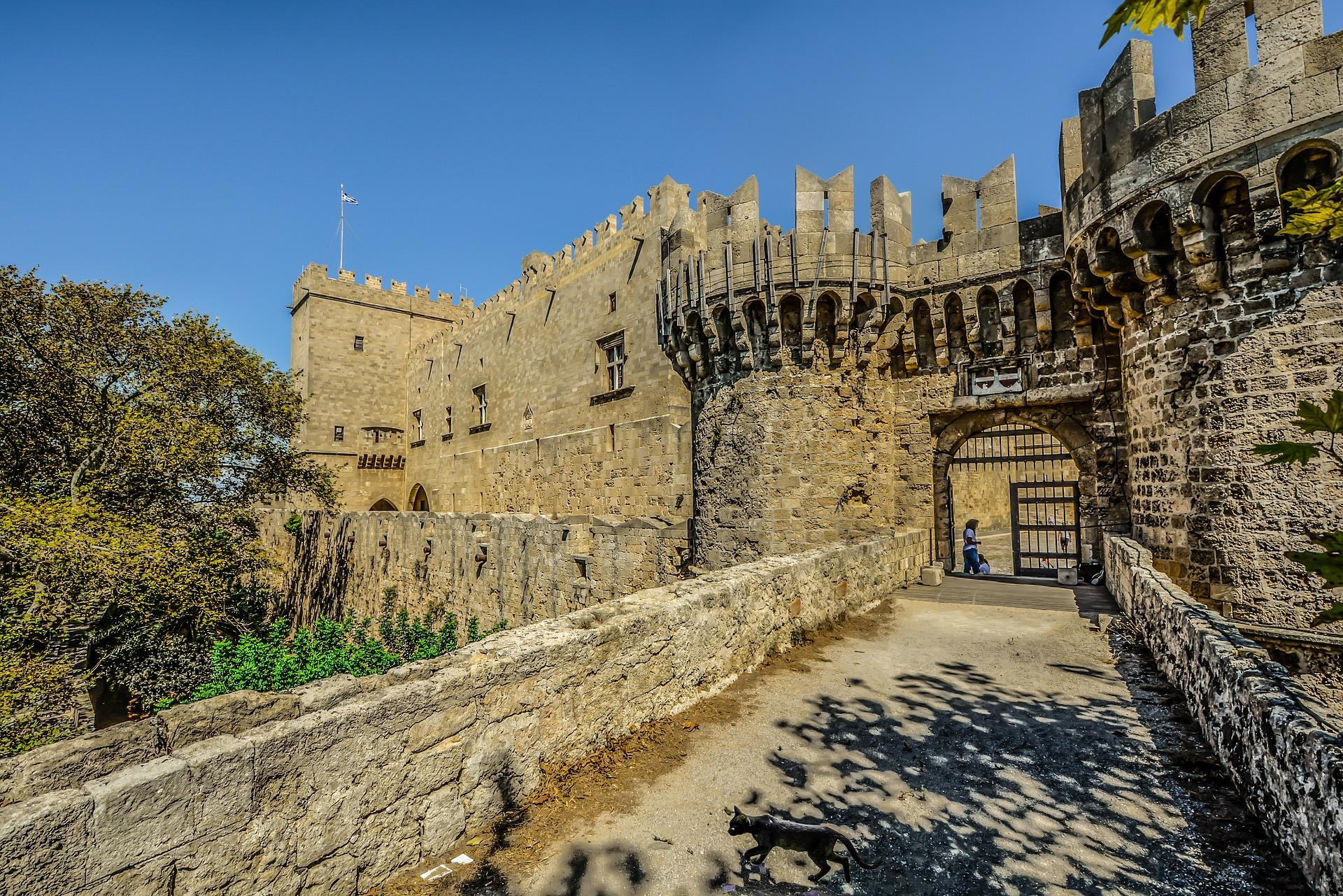Alte Burg in Malta aus dem 14 Jahrhundert