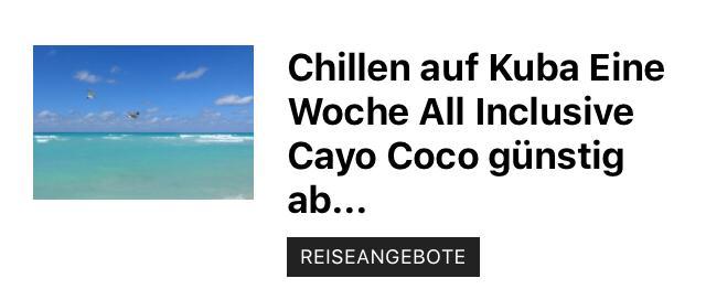 Cayo Coco Urlaub buchen an der Karibik Luxusurlaub unter 1000,00€