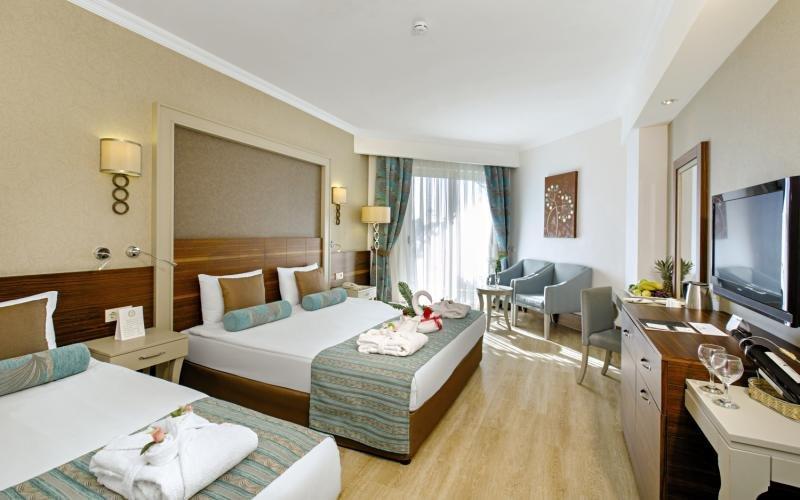 Das Hotelzimmer beim All Inclusive Urlaub Türkei