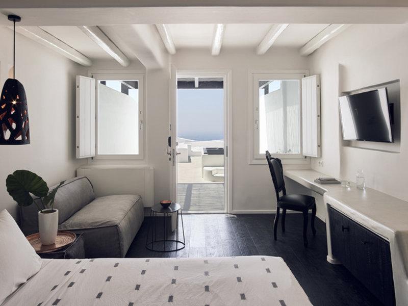 Das Zimmer auf Santorin im Luxusurlaub