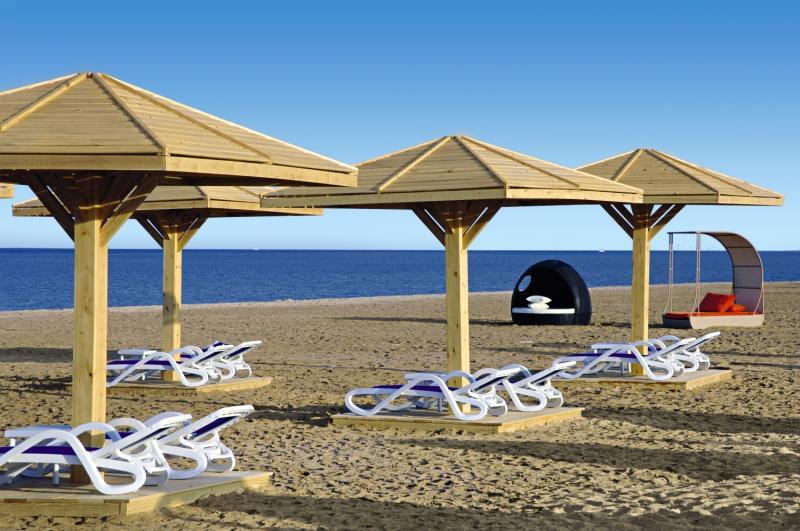 Der Hoteleigene Strand vom Troptiel 5 Sterne