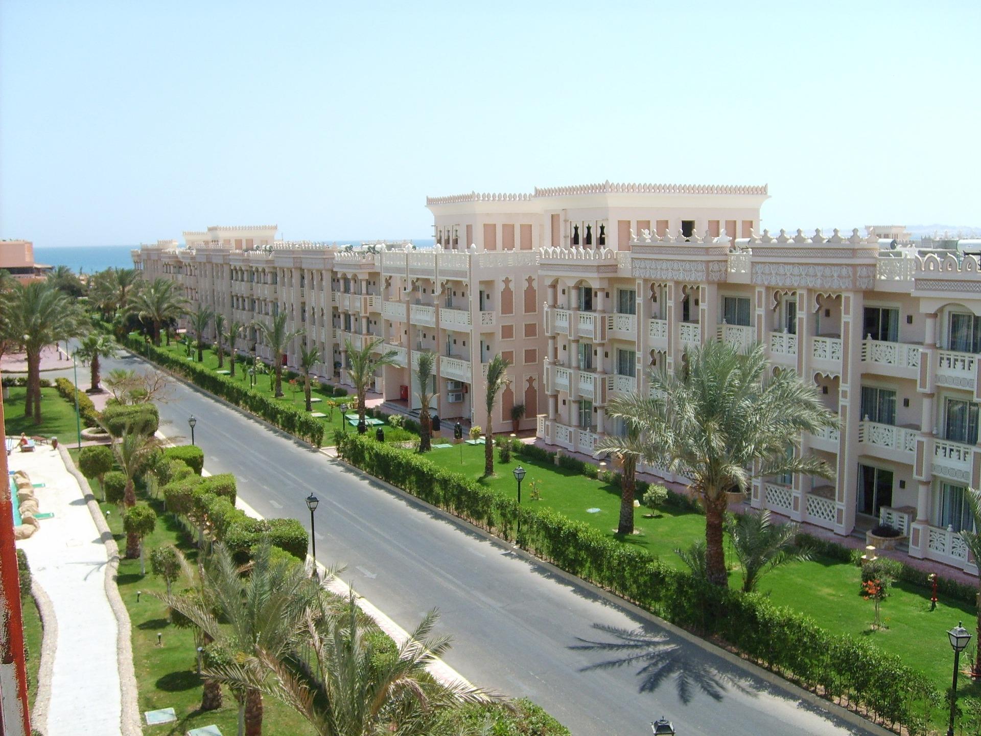 Die Straßen in Hurghada Urlaubsgebiet in Ägypten