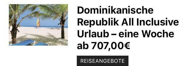 Dominikanische Republik eine Woche günstig ab 707,00€
