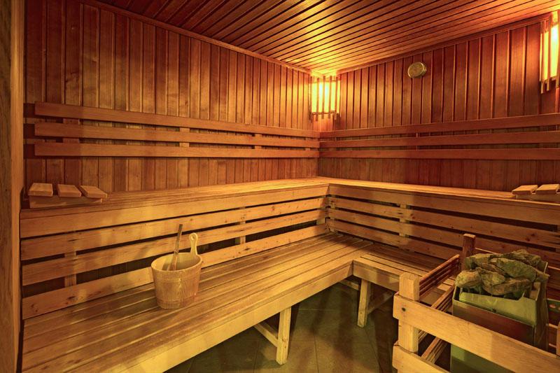 Hauseigene Sauna vom Theatrino Hotel in Tschechien Prag