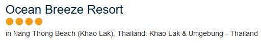 Badeurlaub in Thailand - Khao Lak