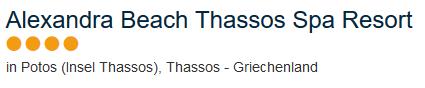 Hotel auf Thassos