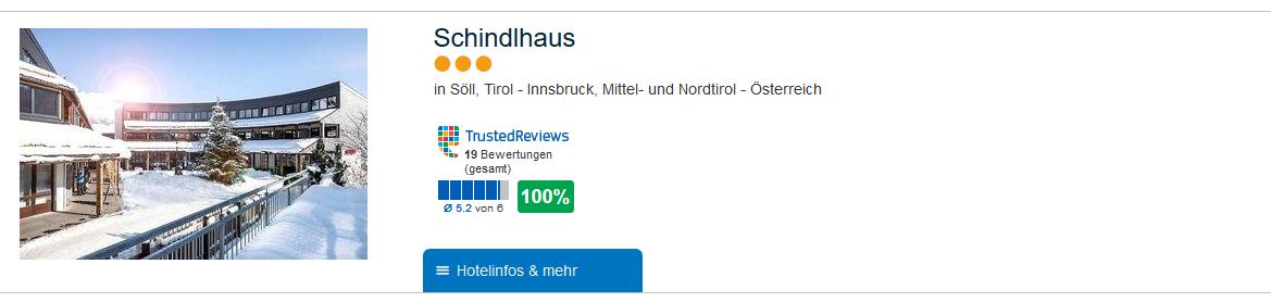 Hotelbewertung 100 % Skiurlaub in Söll - eine Woche günstig ab 78,19€ p.P = Tirol-Innsbruck