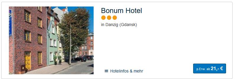 Hotels Danzig Altstadt hier finden