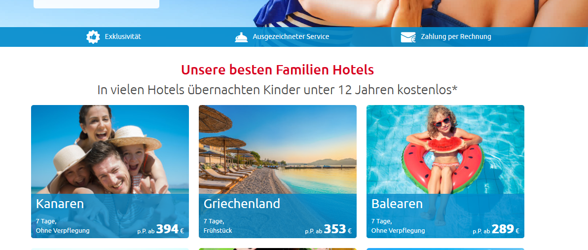 Kinderfestpreis beim Urlaub ab 0,00€ - Günstiger Buchen Alltours