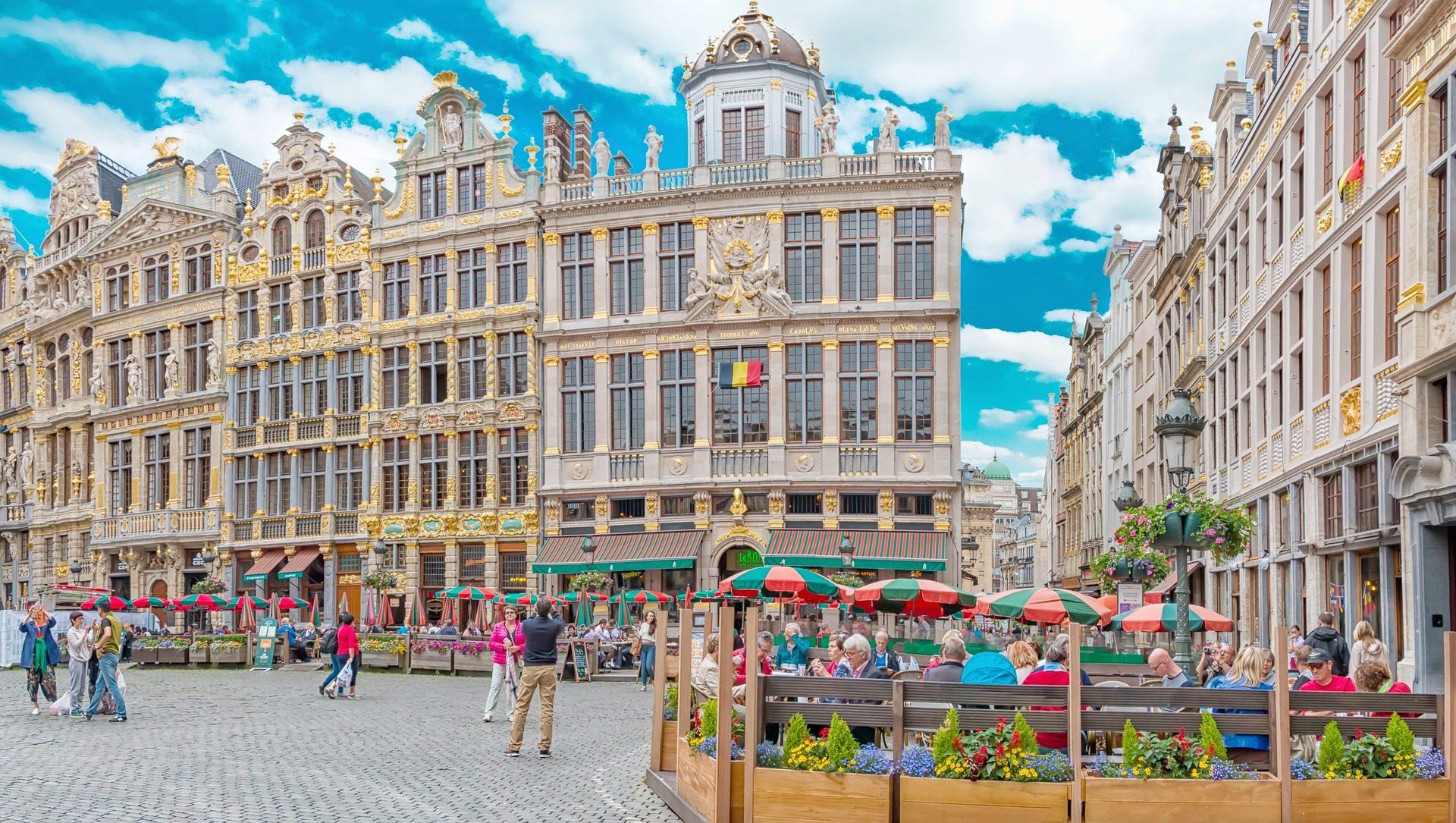 Markplatz in der Landeshauptstadt Belgiens