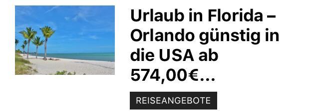 Nach Florida USA günstig ab 574,00€