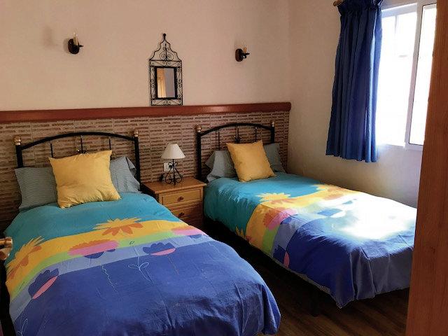 Schlafzimmer der Ferienwohnung auf La Palma eine Woche günstig ab 210,00€ p.P