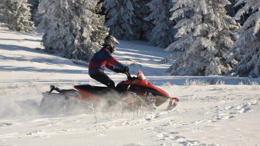 Schneemobil Fahren im Urlaub