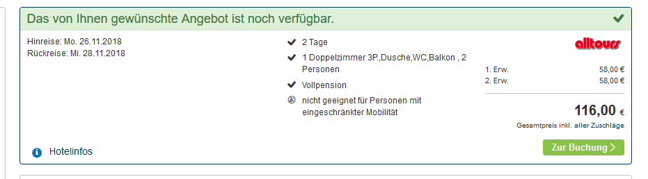 Screenshot 2 Tage Deal Wellnes Urlaub in Polen Swinemünde
