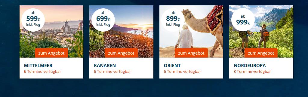 Screenshot Beispiel Deals Black Friday bei AIDA - Kreuzfahrten gibt's nur günstiger als Pirat ab 599,00€