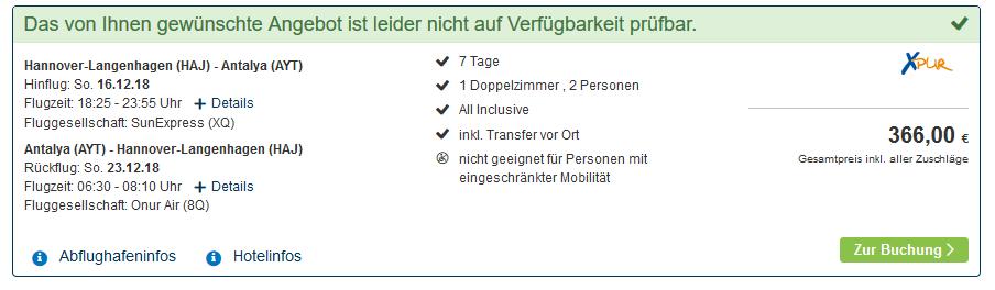 Screenshot Deal All Inclusive Wellnessurlaub Türkei eine Woche ab 183,00€ im 4 Hotel - Kemer