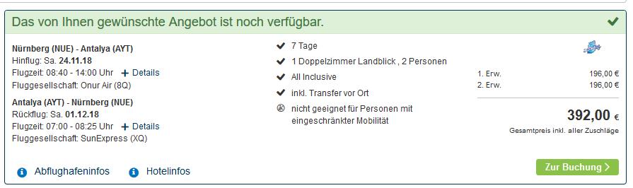Screenshot Deal All Inklusive Urlaub in Türkei ab 196,00€ - Side Titreyengöl 4,5 Sterne