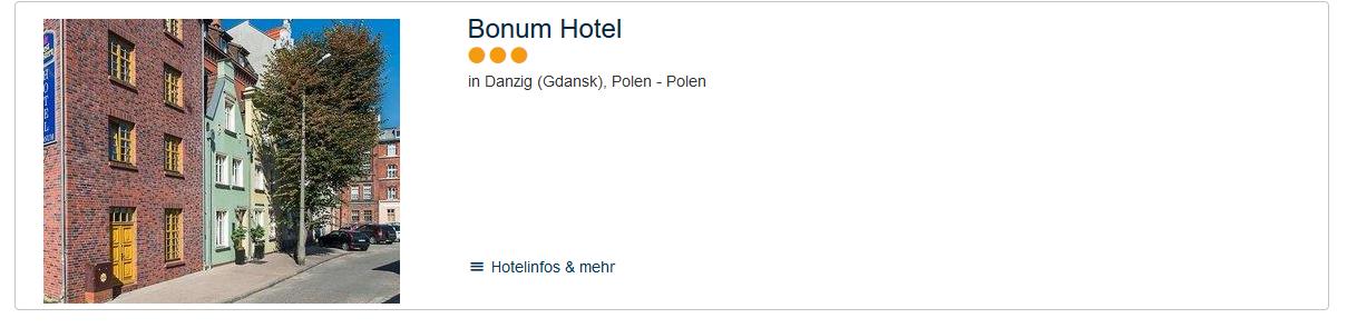 Screenshot Deal Altstadt Danzig Städtereise ruft ab 101,00€ - Urlaub an der Danziger Bucht + Flug