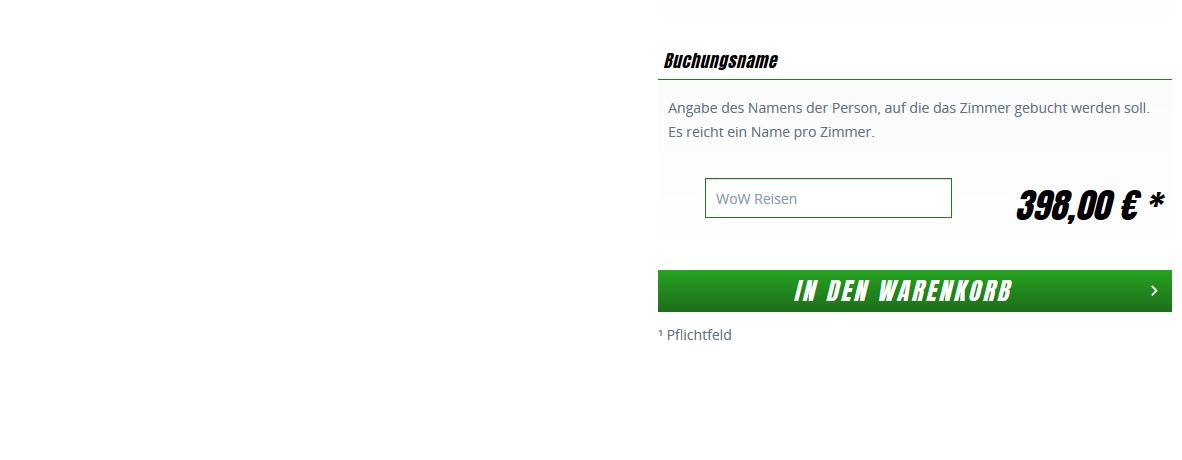 Screenshot Deal FC Bayern München Tickets Bsp. vs Fortuna Düsseldorf 24.11.19 ab 199,00€ +Hotel