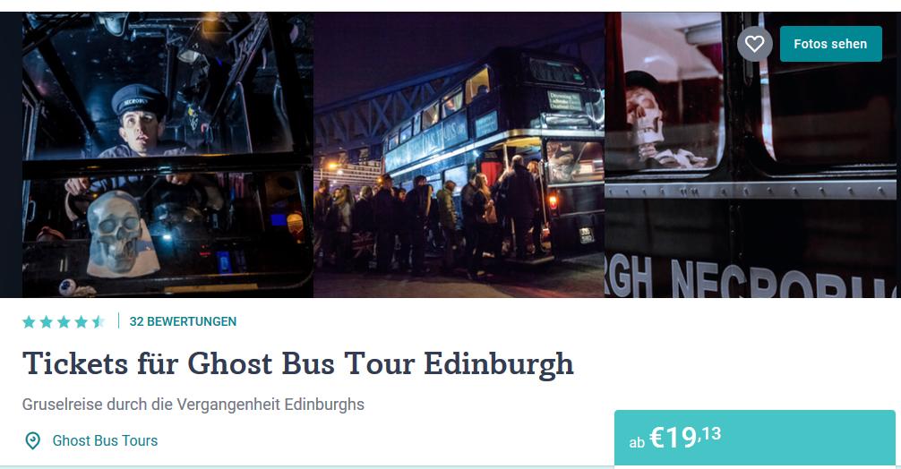 Screenshot Deal Ghost Tour Edingburgh ab 19,13€