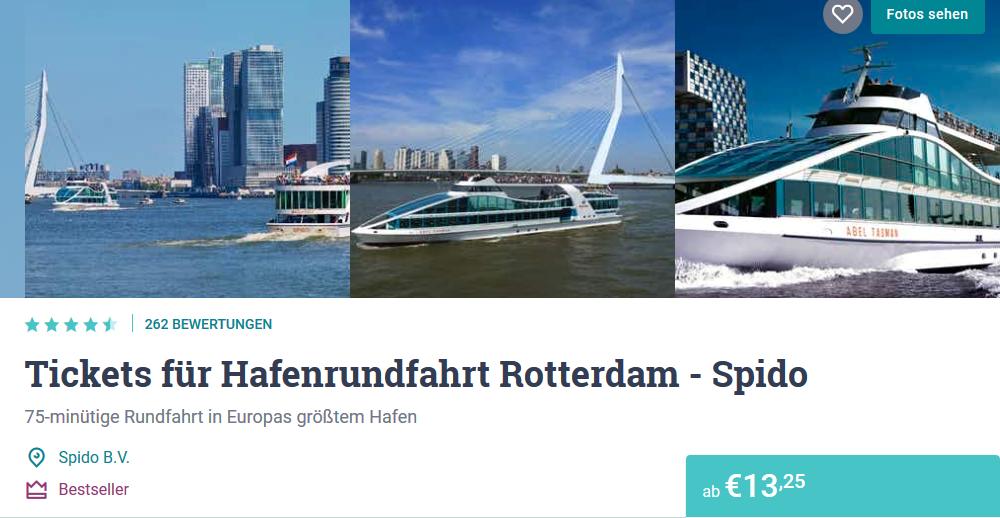 Screenshot Deal Hafenrundfahrt Rotterdam ab 13,25€