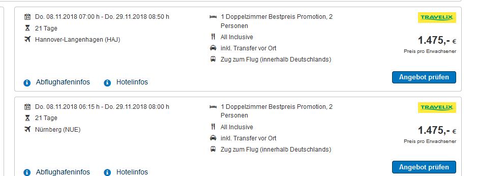 Screenshot Deal Mexiko Urlaub 3 Wochen All Inclusive günstig ab 1475,00€ - Cancun Yucatan