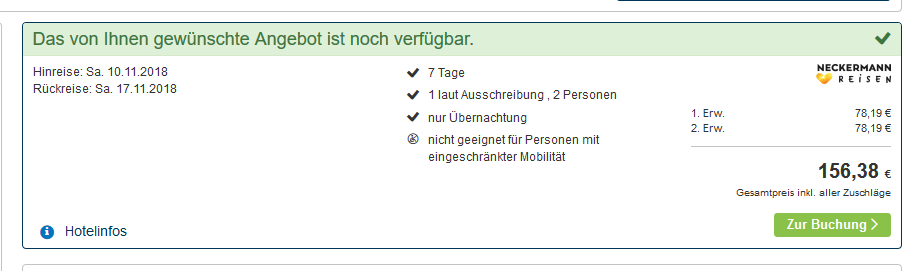 Screenshot Deal Skiurlaub in Söll - eine Woche günstig ab 78,19€ p.P = Tirol-Innsbruck
