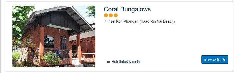 Screenshot Hoteldeals Hotels Koh Phangan günstiger buchen ab 9,00€ die Nacht - Partyurlaub in Thailand